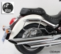Mobile Preview: H&B Satteltaschen IVORY + Trägersystem - Yamaha XVS 1100 A Drag Star Classic